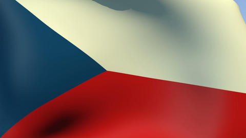 Flag of Czech Republic Stock Video Footage