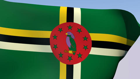 Flag of Dominica Animation