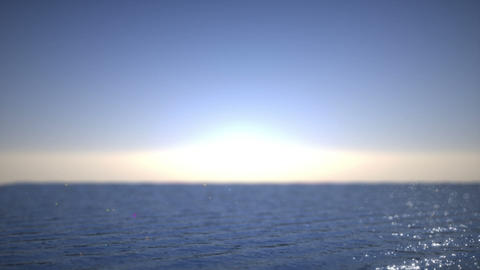 Sunset at sea time lapse. Artistic shallow DOF Stock Video Footage