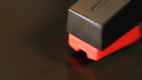 Detail of moving cartridge on vinyl Footage