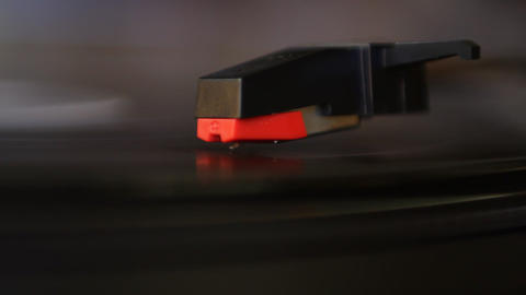 Vinyl rotating on record player Stock Video Footage