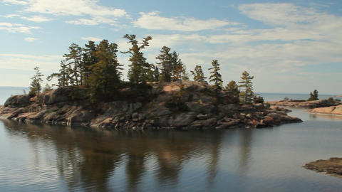 Panorama of Georgian Bay Stock Video Footage