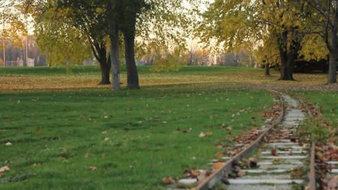 Miniature Train Track stock footage