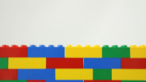 Lego wall Stock Video Footage
