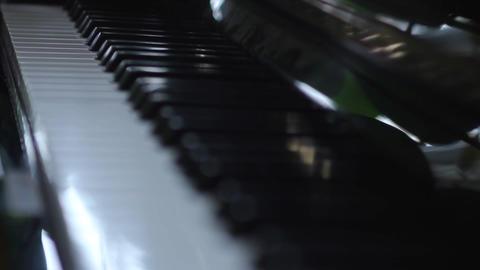 Piano keys Stock Video Footage