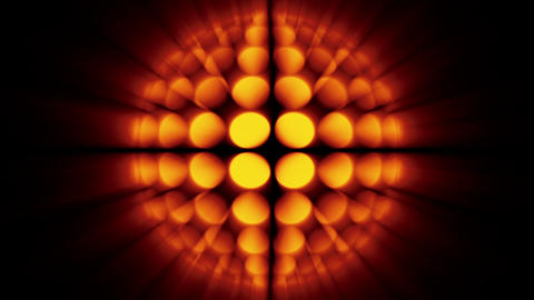 Glowing globe, the variation of disco-ball, orange tint Stock Video Footage