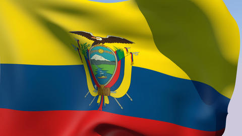Flag of Ecuador Stock Video Footage