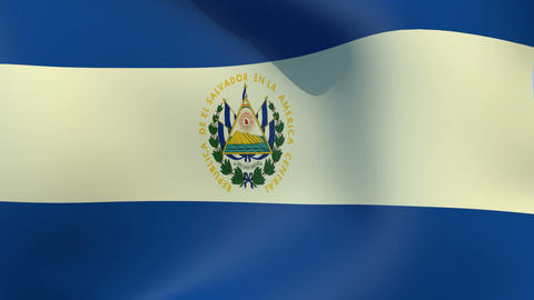 Flag of El Salvador Animation