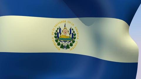 Flag of El Salvador Stock Video Footage