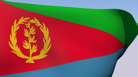 Flag of Eritrea Stock Video Footage