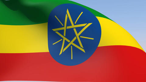 Flag of Ethiopia Animation