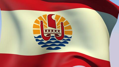 Flag of French Polynesia Animation