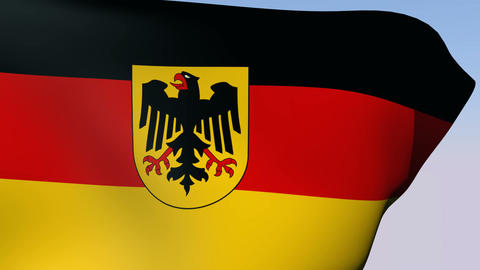 Flag of Germany State Stock Video Footage