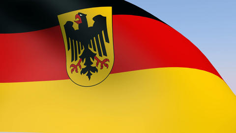 Flag of Germany State Animation