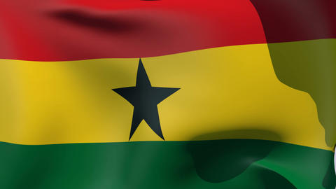 Flag of Ghana Stock Video Footage
