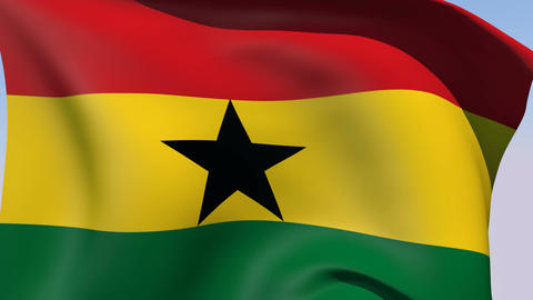 Flag of Ghana Animation