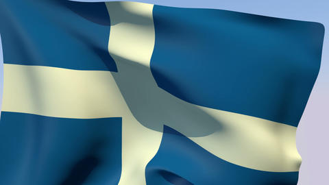 Flag of Greece 1822-1978 Stock Video Footage