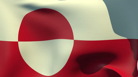 Flag of Greenland Stock Video Footage