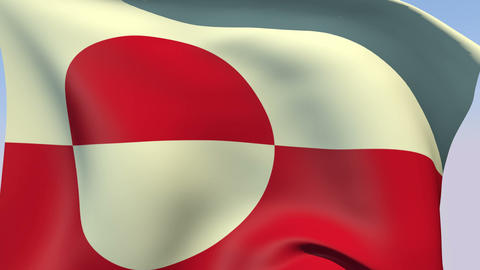 Flag of Greenland Animation