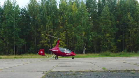 Autogyro Before Take-Off Footage