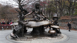 Alice in Wonderland statue in Central Park, New York Footage