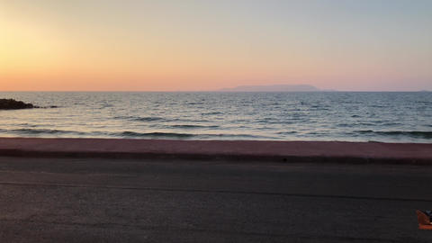 Calm Ocean At Sunset GIF
