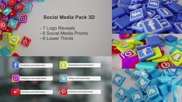 Social Media Promo Bundle 3D Plantilla de After Effects
