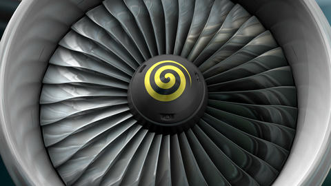 Turbo jet engine front view, Stock Animation