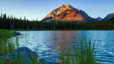 Timelapse of Buller Pond in Kananaskis, in the Canadian Rocky Mountains, Footage