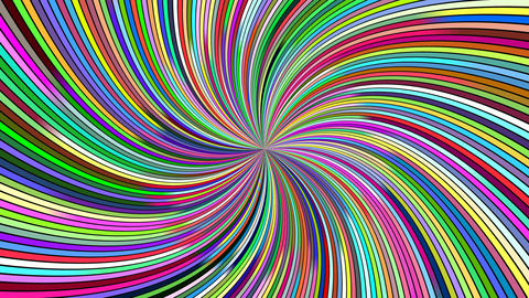 Rotating hypnotic spiral burst stripes - seamless loop motion graphics Animation