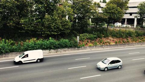 No traffic jam in Paris city 영상물