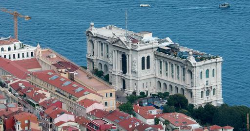 Aerial View Of The Oceanographic Museum of Monaco GIF