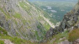 Alpine landscape in Sudetes Mountain. Karkonoski National Park, Poland Footage
