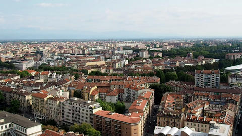 Skyline of the city of Turin in 4k GIF