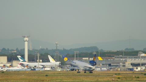 Lufthansa Cargo MD-11 departure Live Action