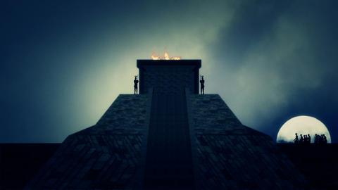 Inca Pyramid in Ancient Peru Live Action