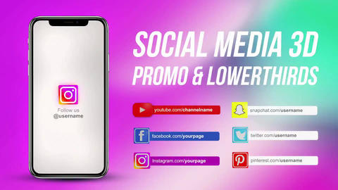 Social Media Promo Bundle 3D Premiere Pro Template