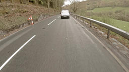 Corris / Wales - May 01 2018 : Driving from Corris to Machynlleth in north wales Footage