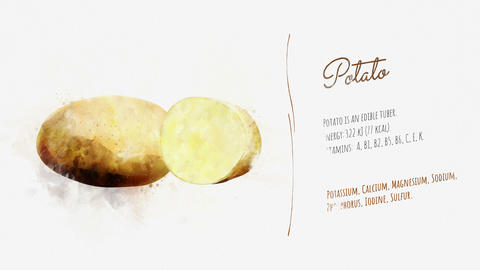Potato and its beneficial properties Animation