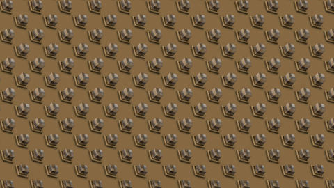 Abstract isometric background glass cubes buttons diagonal waves motion Animation