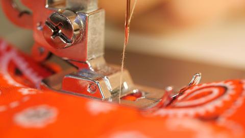 Sewing Machine Needle Macro 4K Close Up Footage