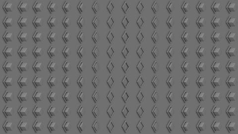 Abstract isometric background gray cubes buttons vertical wave Animation