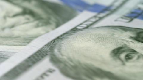 One Hundred Dollar Bills Loop Money 4K Macro Background Footage