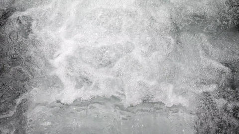 Water Flowing from the Pipe. Contaminated Water Background. 4K, Slowmotion Live Action