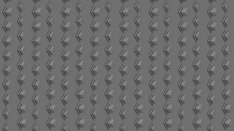 Abstract isometric background gray cubes buttons vertical waves motion Animation