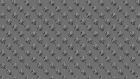 Abstract isometric background gray cubes buttons diagonal waves motion Animation