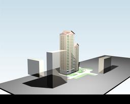 The project of a multi-storey residential building 3D Model