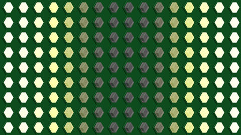 Abstract isometric background cubes lights bulbs vertical wave flashing Animation