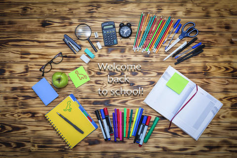 education, wooden, school, background, table, office, back to school フォト