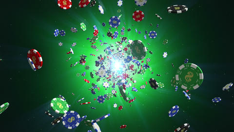Casino chips loopable background Animation